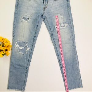American Eagle Outfitters Jeans - [American Eagle] Distressed Skinny Crop Jeans Sz 4